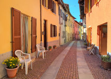 Free Narrow Cobbled Street Among Colorful Houses In Italy. Stock Images - 31311104