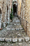 Narrow cobbled street Royalty Free Stock Images