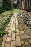 Narrow Cobblestone Road Royalty Free Stock Photo