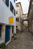 Narrow cobblestone street Stock Photography