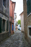 Narrow cobblestone street Stock Image