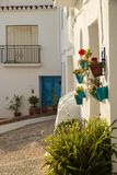 Narrow Andalusian old town street Stock Images