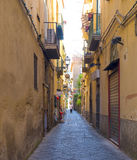 Narrow Colorful Street, Sorrento Italy Stock Photo