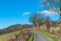 Narrow country road Royalty Free Stock Photos