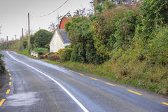 Narrow Country Road in ireland Stock Image