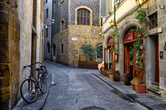 Narrow cozy street in Florence, Tuscany Royalty Free Stock Image