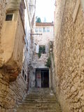 Narrow croatian small street Stock Photography