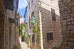 Narrow croatian street Stock Photos