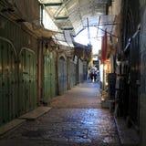 Narrow Dark Streets of Old City, Jerusalem royalty free stock photos