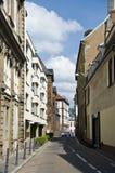 narrow den strasbourg gatan Fotografering för Bildbyråer