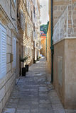 Narrow Dubrovnik street Royalty Free Stock Photography