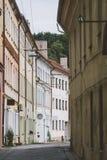 Narrow empty street in old town of Kaunas city Stock Photo