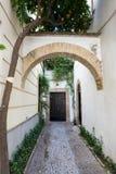 Narrow entrance in Cordoba street in Spain Stock Photo