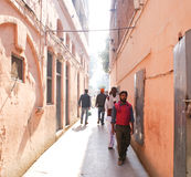 The narrow entrance to Jallianawala Bagh, Amritsar. This is the only and quite narrow entrance to Jallianawala Bagh, in Amritsar, through which British Indian stock photo