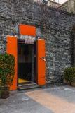 Narrow entrance of the walled village of Kat Hing Wai. Near Hong Kong in the morning Royalty Free Stock Photography