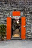 Narrow entrance of the walled village of Kat Hing Wai. Near Hong Kong in the morning - 2 Stock Image