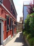 Narrow European street Italy Stock Photography