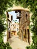 Narrow european street Royalty Free Stock Image