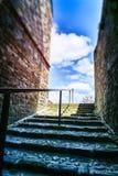 Narrow european street with staircase Royalty Free Stock Photo