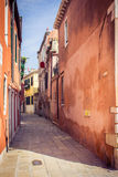 Narrow european street Royalty Free Stock Image