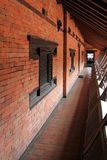 A Narrow external corridor on the balcony at Patan Museum in Patan, Nepal Stock Images