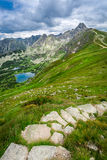 Narrow footpath in the Tatras Mountains Stock Image