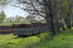 Narrow-gauge field railway, in Germany called Lore, transport of Royalty Free Stock Image