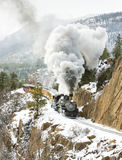 Narrow Gauge Railroad. Durango and Silverton Narrow Gauge Railroad, Colorado, USA Stock Photos