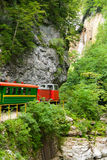 Narrow Gauge Railroad in Guamskoe gorge Royalty Free Stock Photo