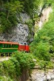 Narrow Gauge Railroad in Guamskoe gorge Royalty Free Stock Photo