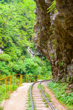Narrow Gauge Railroad in Guamskoe gorge Royalty Free Stock Photos