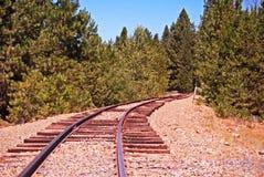 Narrow gauge railroad track Stock Photos