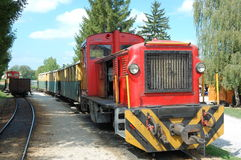 Narrow-gauge Railway. At Szilvasvarad station going to Szalajka valley in Hungary. Szilvasvarad lies 32 kilometers North of Eger, on the Western part of the stock photo