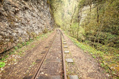 Narrow gauge railway. Guama gorge. Royalty Free Stock Photography