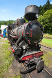 Narrow-gauge railway, steam train in Cisna, Poland Stock Photos