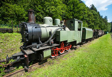 Narrow-gauge railway, steam train in Cisna, Poland Royalty Free Stock Photography