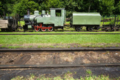 Narrow-gauge railway, steam train in Cisna, Poland Royalty Free Stock Images