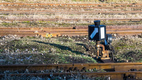 Narrow-gauge railway switch Stock Photo