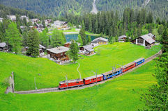 Narrow gauge railway. Switzerland. Stock Photos
