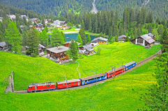 Narrow Gauge Railway. Switzerland. Stock Photography
