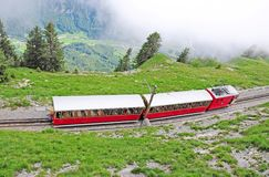 Narrow gauge railway. Switzerland. Stock Images