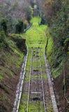 Narrow gauge railway track Stock Photo