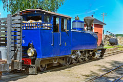 Narrow gauge steam locomotive. Stock Images