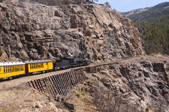 Narrow Gauge Steam Locomotive in the Mountains Royalty Free Stock Photo