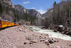 Narrow Gauge Steam Railway in Colorado Stock Photography