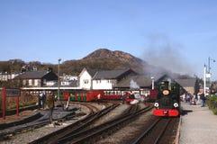 Narrow gauge Steam Train. In Wales, UK Stock Image