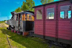 Narrow gauge steam train. Stock Photos