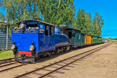 Narrow gauge steam train. Royalty Free Stock Images