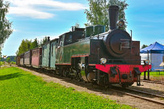 Narrow gauge steam train. Stock Images