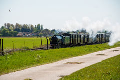 Narrow Gauge Steam Train. Billowing smoke and steam Stock Photography